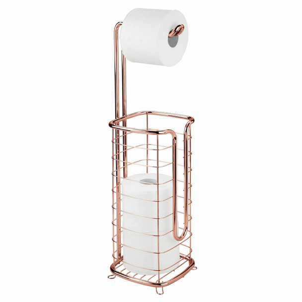 Metal Wire Toilet Tissue Paper Roll Holder & Dispenser