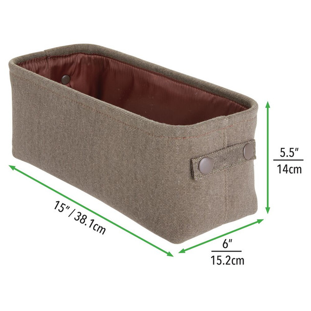 Small Fabric Bathroom Storage Bin with Coated Interior