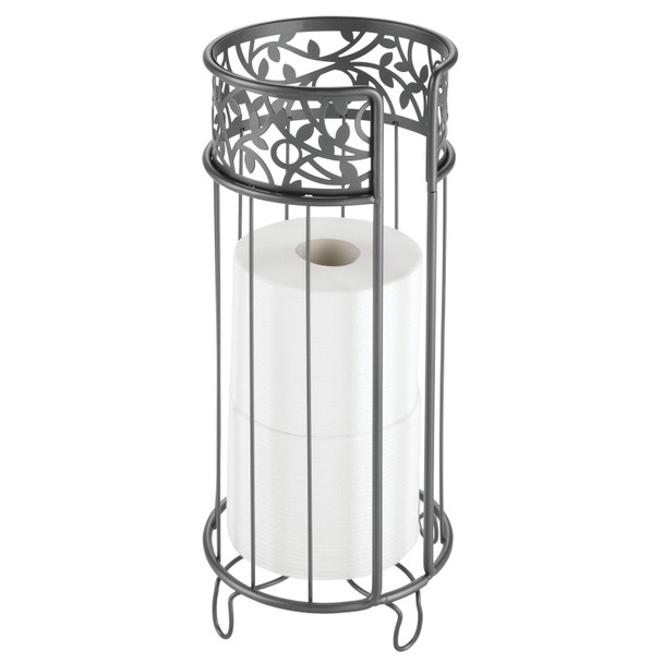 Decorative Toilet Paper Stand - Stores 3 Rolls