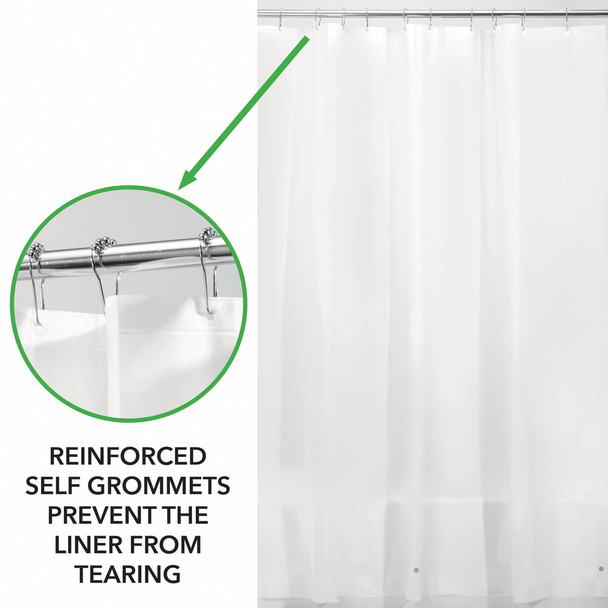 "EXTRA-WIDE PEVA Shower Curtain Liners for Bath 108"" x 72"" - Pack of 2"