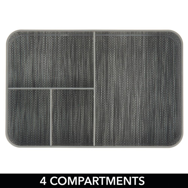 """4 Section Plastic Home Office Drawer Organizer - 8"""" x 12"""" x 2"""""""