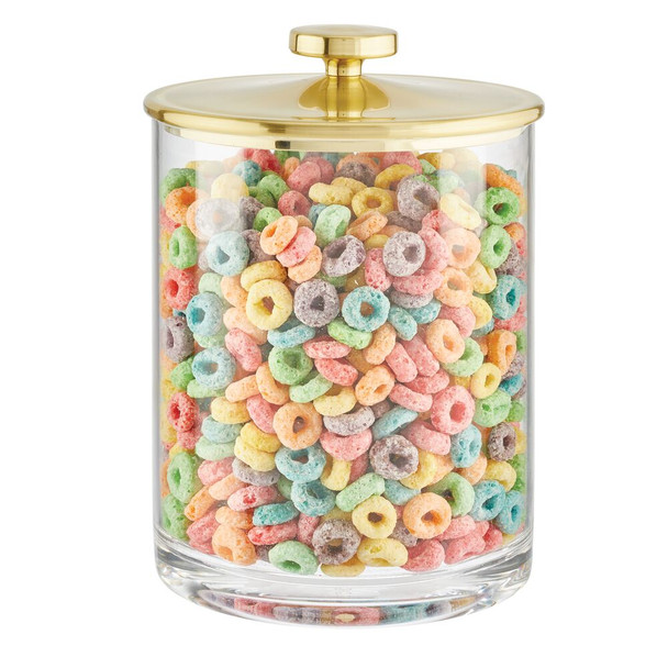 Round Plastic Kitchen Storage Canister Jar - Pack of 2