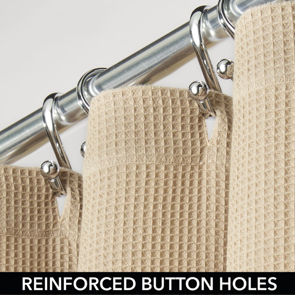 100% Cotton Extra-Wide Waffle Weave Shower Curtain