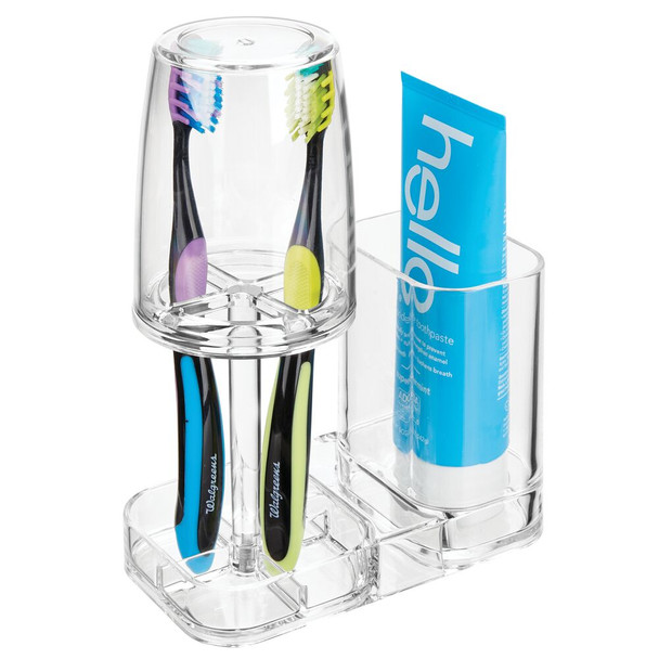 Countertop Toothbrush Holder Stand & Rinsing Cup