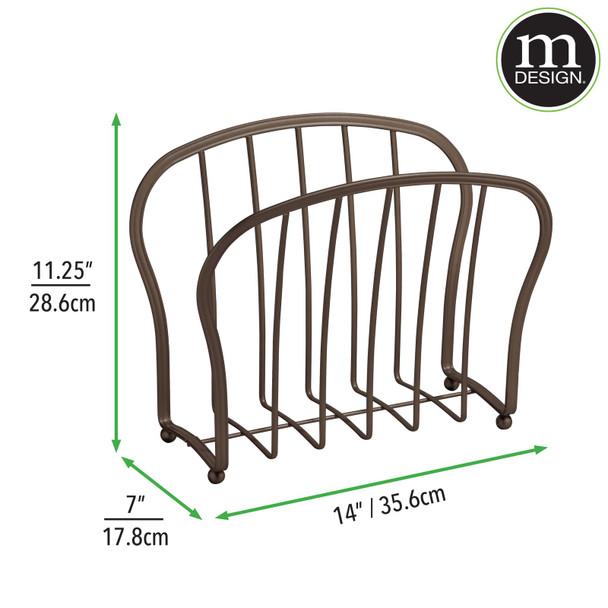 Metal Free Standing Bathroom Magazine Rack Newspaper Stand