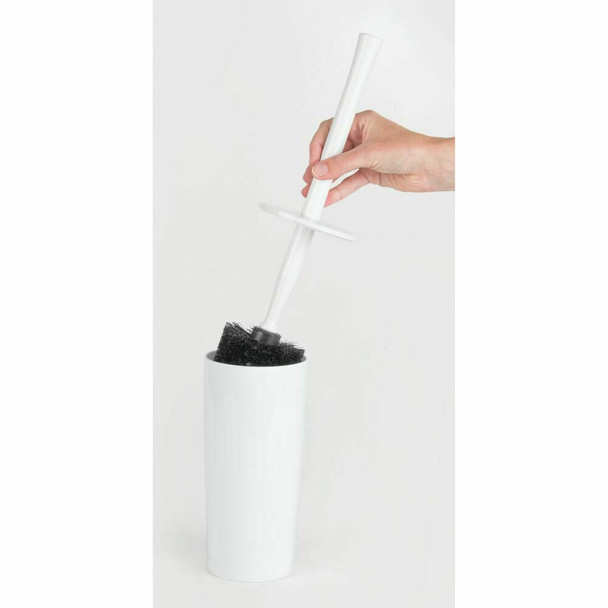 Compact Plastic Toilet Bowl Brush Holders - Pack of 2