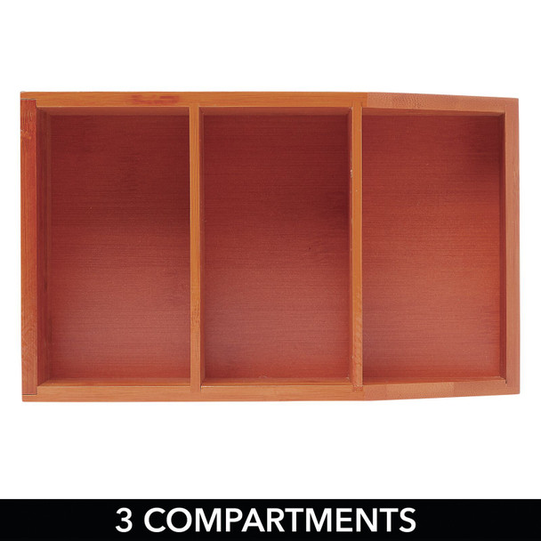 Bamboo Wood Divided Food Storage Bin