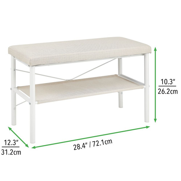 Entryway Bench with Shoe Shelf