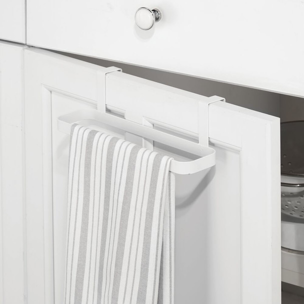 Over Cabinet Door Towel Bar for Kitchen and Bathroom, Pack of 2
