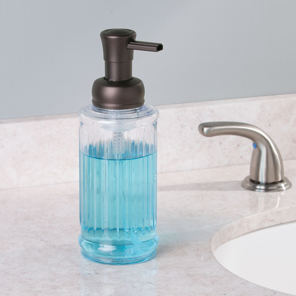 Fluted Plastic Refillable Foaming Soap Dispenser Pump - Pack of 2