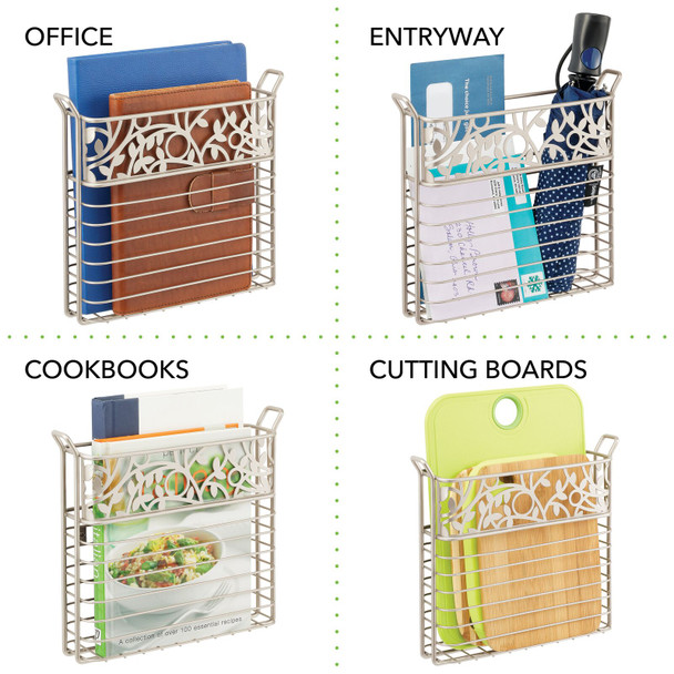 Metal Wall Mount Magazine Rack and Book Holder