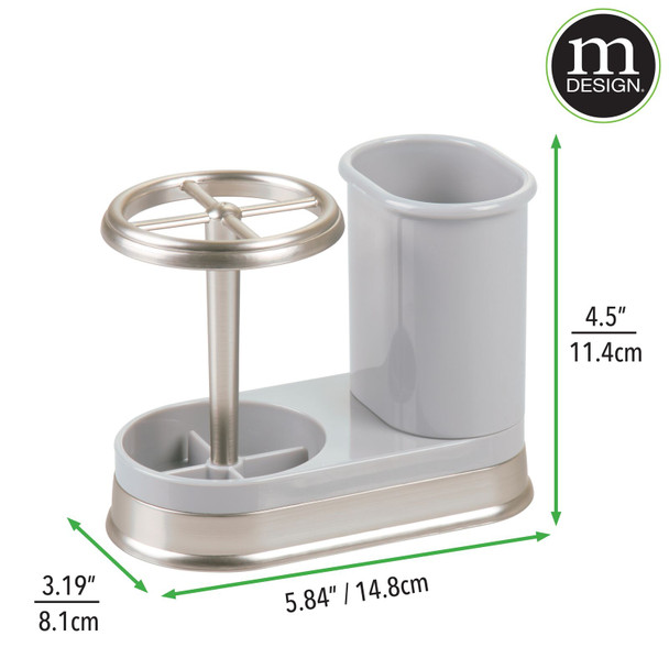 Countertop Toothbrush Holder Stand + Bathroom Center