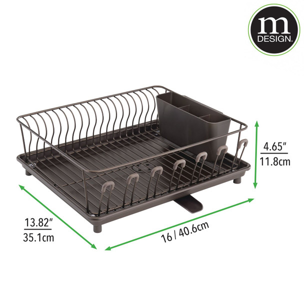 Large Kitchen Sink Dish Drying Rack with Swivel Spout