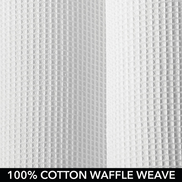 "Extra Long Waffle Weave Cotton Shower Curtain - 72"" x 96"""