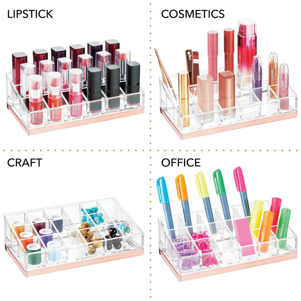 Divided Plastic Makeup Cosmetic Storage Organizer 18S