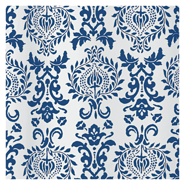 "Long Fabric Damask Printed Shower Curtain - 72"" x 84"""