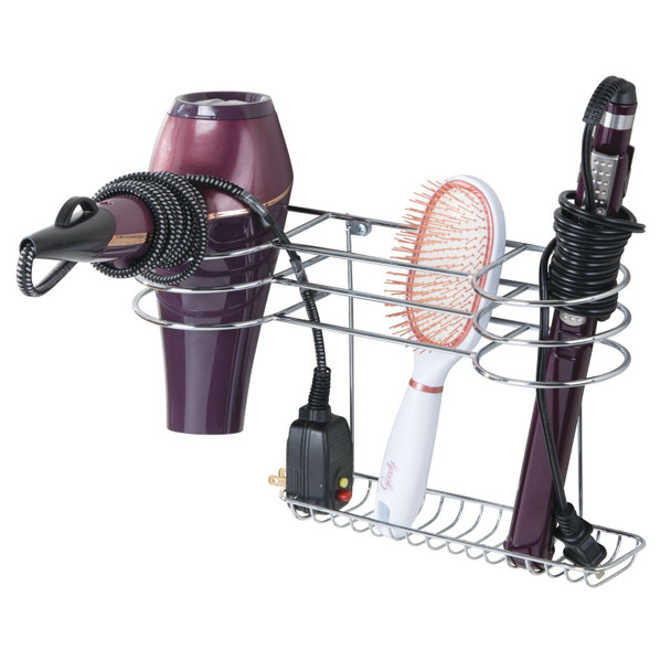 Metal Wall Mount Hair Care Tool Rack Holder