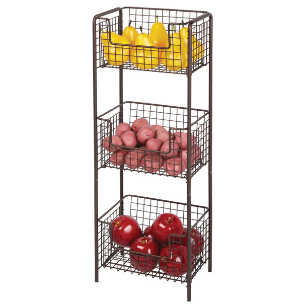 3 Tier Free Standing Kitchen Pantry Storage Shelf