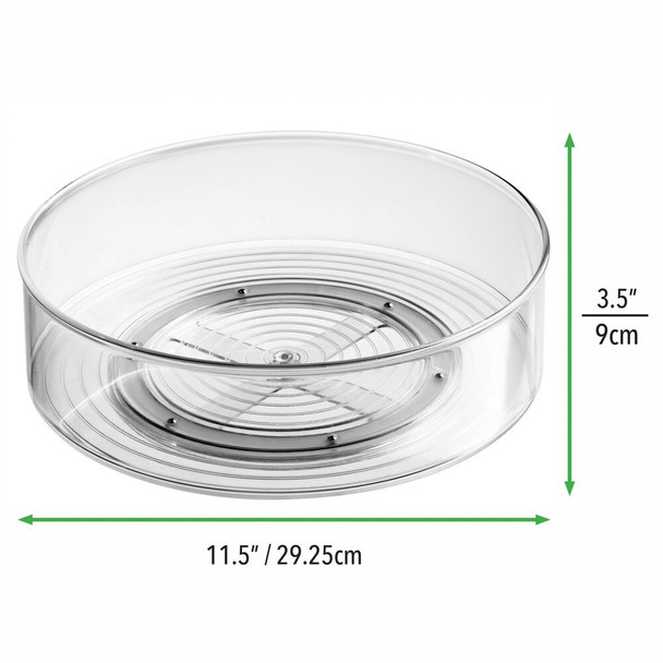 """Plastic Lazy Susan Turntable for Makeup Cosmetic Storage - 11.5"""" Diameter"""