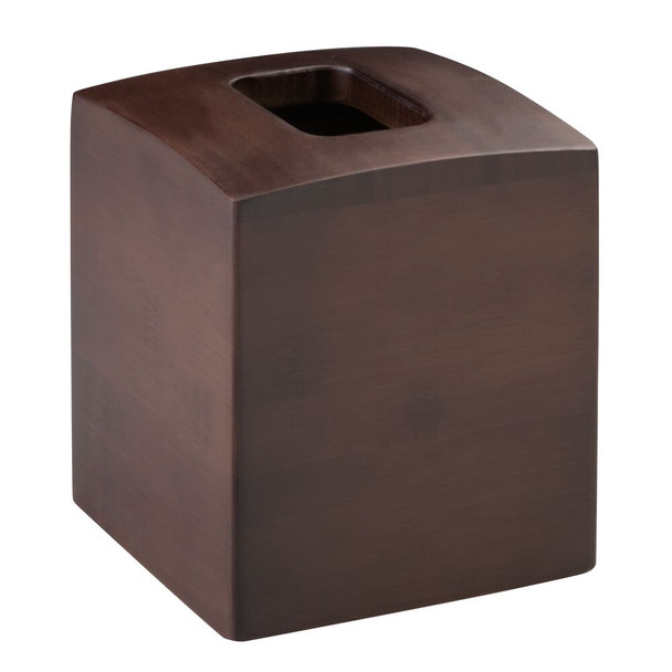 Bamboo Large Square Facial Tissue Box Cover Holder