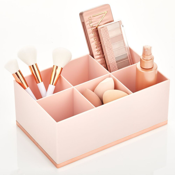 6 Section Plastic Makeup Cosmetic Storage Organizer