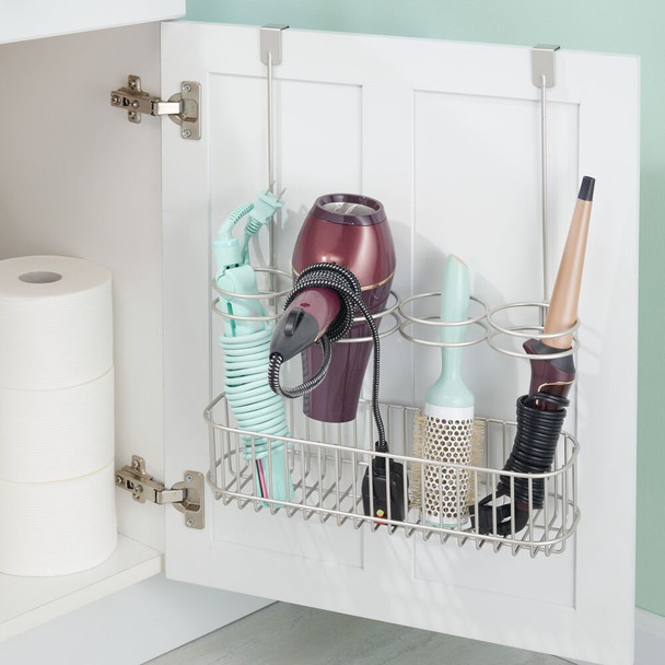 Over Cabinet Door Hair Tool Storage Basket