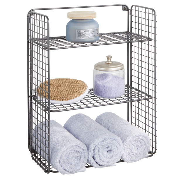 3 Tier Wall Mount Bathroom Shelf for Towel Storage