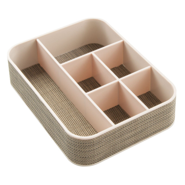 Plastic Home Office Drawer Organizer, 6 Sections