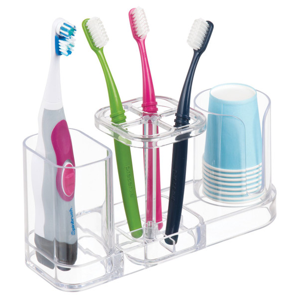 Countertop Toothbrush Holder Stand and Countertop Organizer