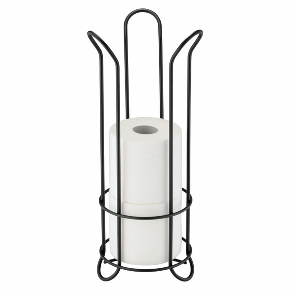 Tall Toilet Tissue Paper Roll Holder Stand, Metal