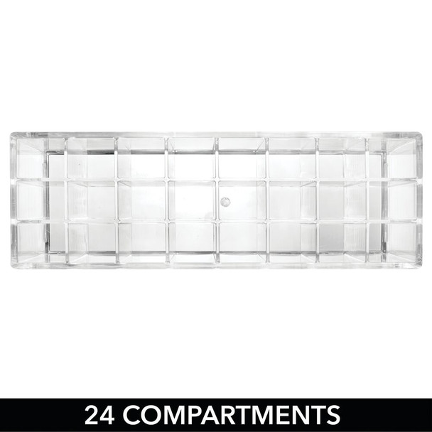 24 Section Plastic Makeup Cosmetic Storage Organizer