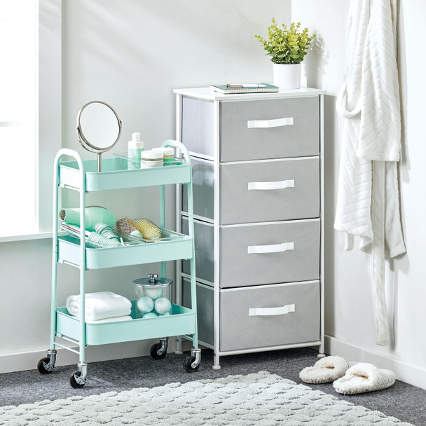 3 Tier Metal Rolling Household Storage Cart