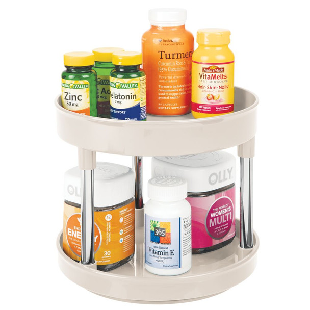 2-Tier Lazy Susan Turntable for Cosmetic Storage