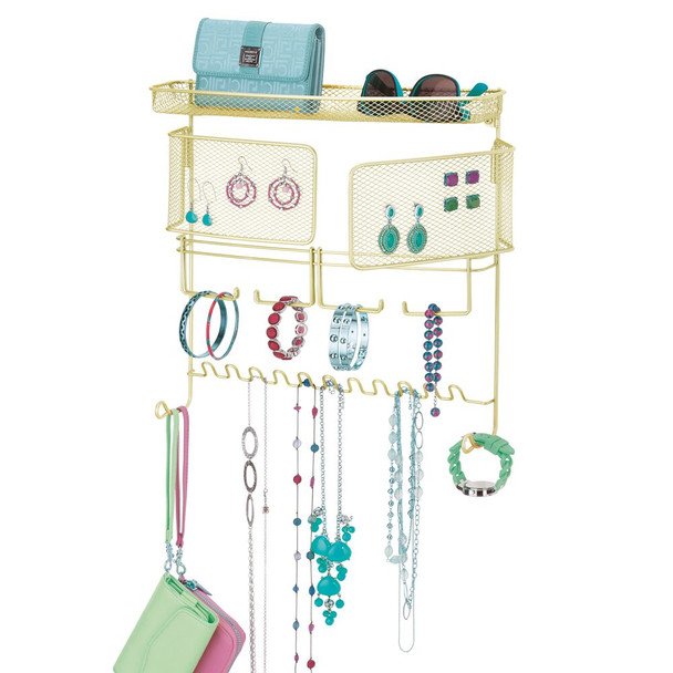 Wall Mount Jewelry and Accessory Organizer Storage Rack