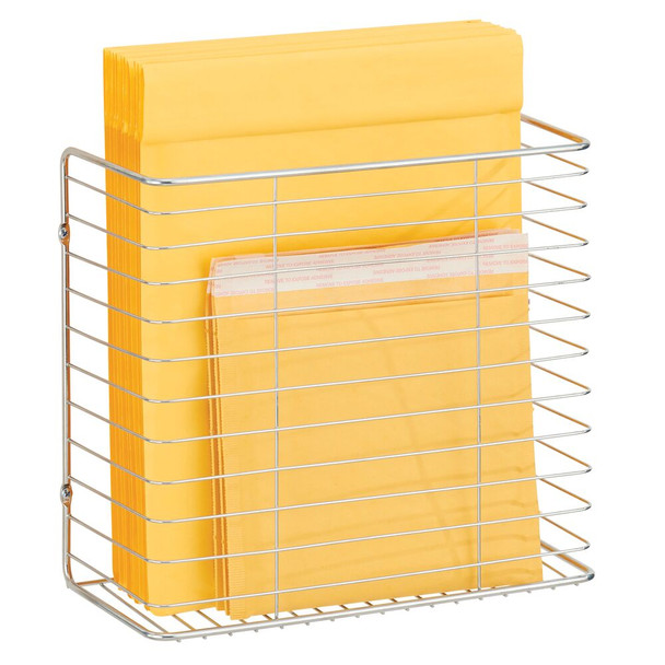Wire Wall Mount Plastic Bag Holder Rack