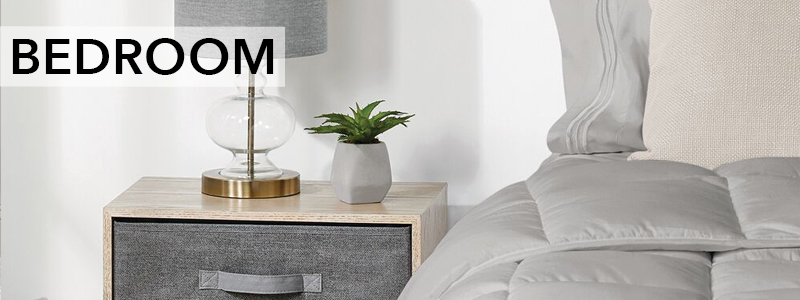 White_Gray_Side_Table_Gray_Bedding