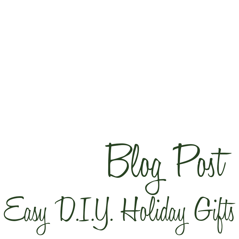 DIY Holiday Easy Gifts Blog
