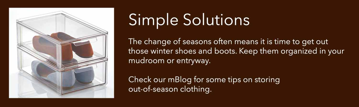 the change of seasons often means it is time to get out those winter shoes and boots keep your mudroom or entry organized