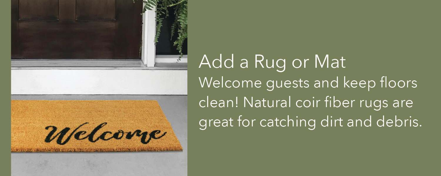 welcome guests and keep floors clean natural coir fiber rugs are great for catching dirt and debris
