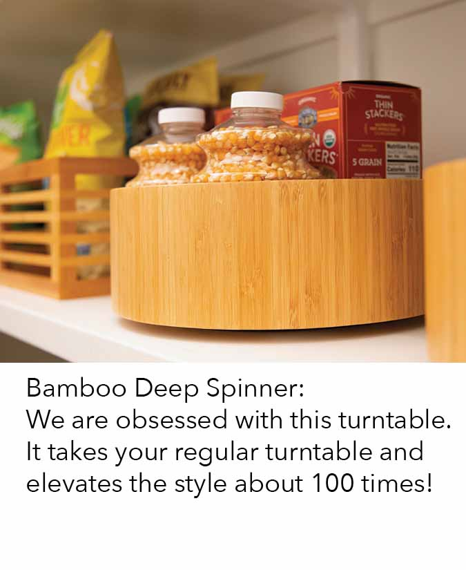 Bamboo Deep Spinner we are obsessed with this turntable, it takes your regular turntable and elevates the style about 100 times