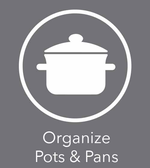 tips on organizing your pots and pans
