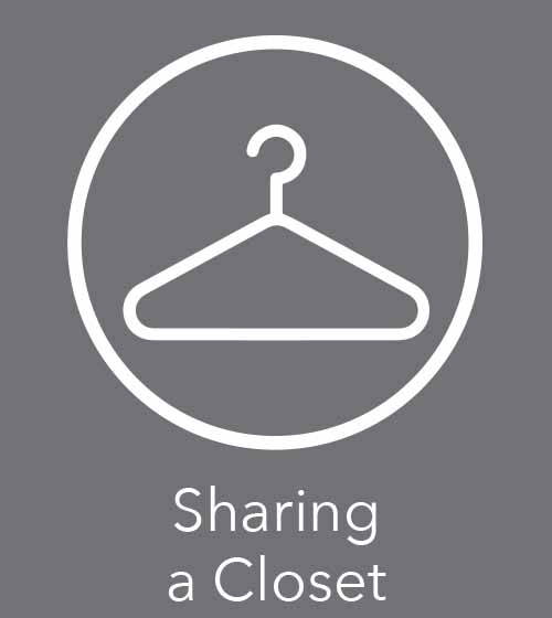 tips on how to share a closet
