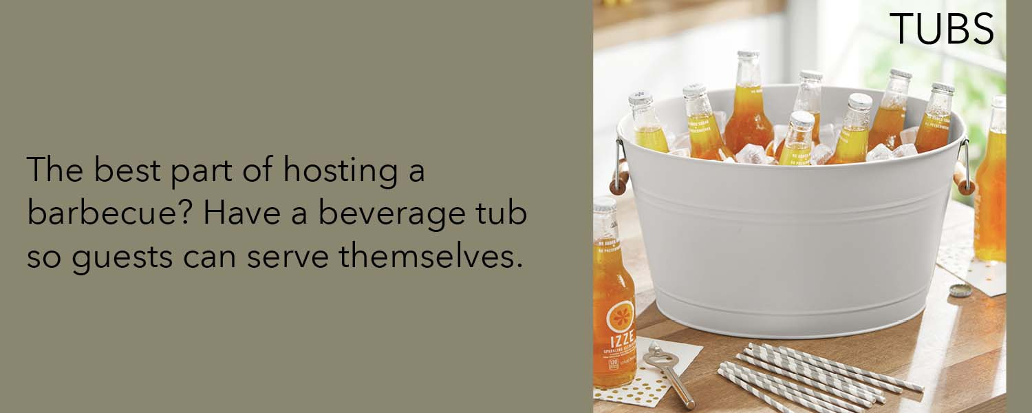 the best part of hosting a barbecue? have a beverage tub so guests can serve themselves