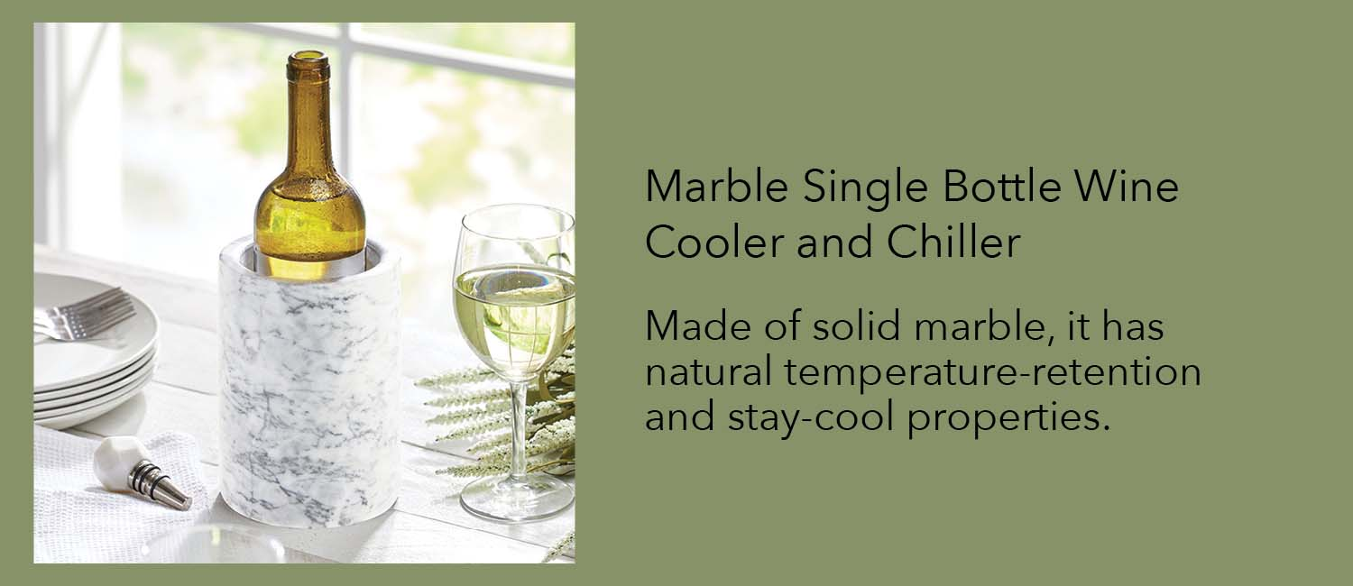 Made of solid marble it has natural temperature-retention and stay-cool properties