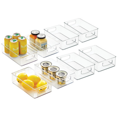 Plastic Kitchen Pantry Food Storage Organizer Bin 10 X 6 X 3