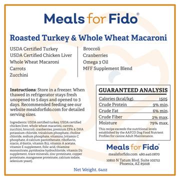 Roasted Turkey & Whole Wheat Macaroni Label