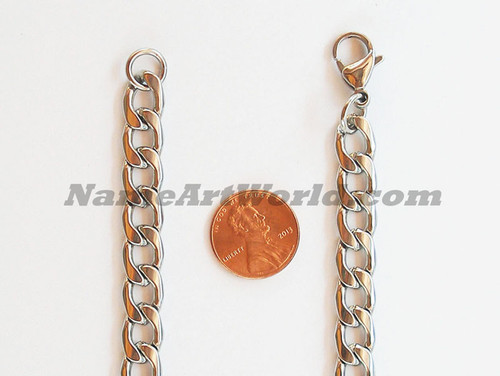 Wholesale Stainless Steel 9mm wide Necklaces Chain- High Polished-USA Seller