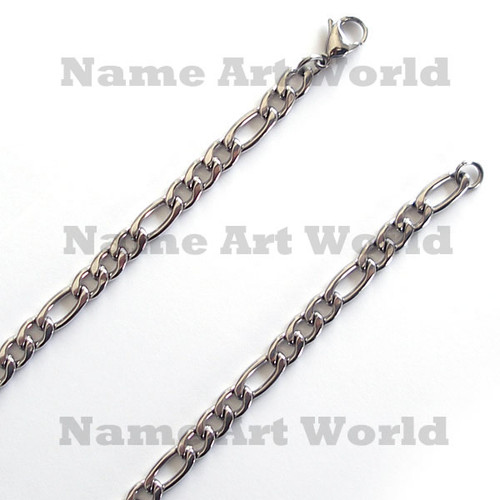 Wholesale Stainless Steel Figaro Chain - 7 mm wide  ---Lower price guarantee