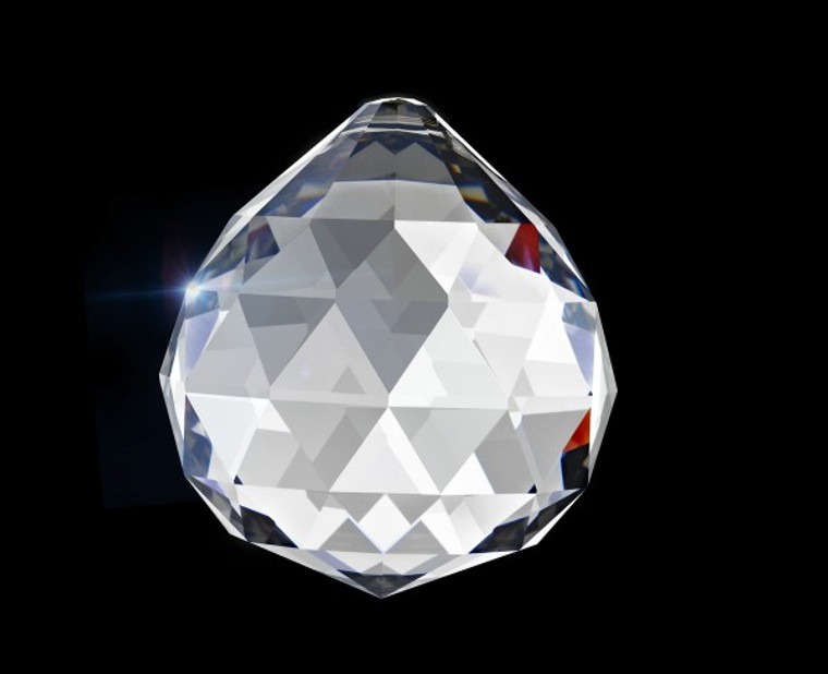 40mm faceted crystal ball