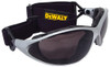 DEWALT Framework Interchangeable Safety Goggles with Clear Anti-Fog Lens DPG95-11D With Goggle Strap Installed